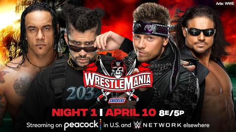 LUCHA EN PAREJAS: Damian Priest y Bad Bunny ante John Morrison y The Miz en WrestleMania 37