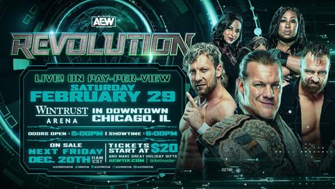 AEW anuncia próximo evento REVOLUTION en Chicago el 29 de febrero de 2020