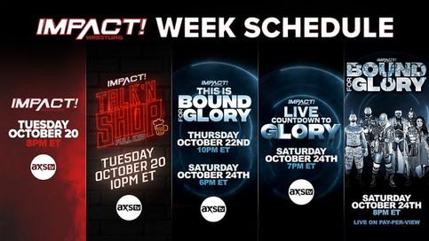 IMPACT WEEK dará comienzo esta noche rumbo al evento Bound For Glory