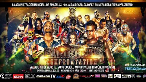 ICWA: A solo dos semanas para presentar el evento CARIBBEAN CONFRONTATION en Rincón, Puerto Rico