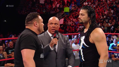 RAW: Samoa Joe y Roman Reigns a luchar por ser el primer retador al título universal