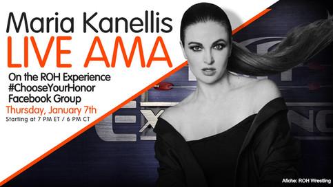 ROH: Maria Kanellis-Bennett EN VIVO esta noche a través de Facebook Live
