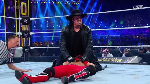 ÚLTIMA HORA: The Undertaker hace aparición en Super Showdown y sorprende a AJ Styles