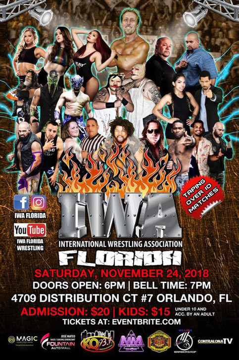 IWA Florida regresa el 24 de noviembre a Orlando; Shane The Glamour Boy a estar presente (VIDEO)