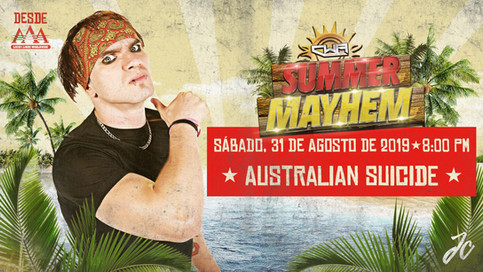 CWA: Australian Suicide a ser parte del evento Summer Mayhem (VIDEO)