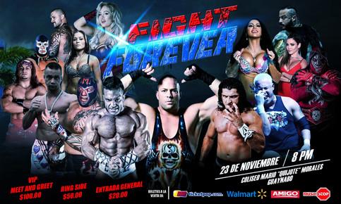 Evento FIGHT FOREVER a llevarse a cabo en Noviembre; Rob Van Dam y otros por primera vez en Puerto R