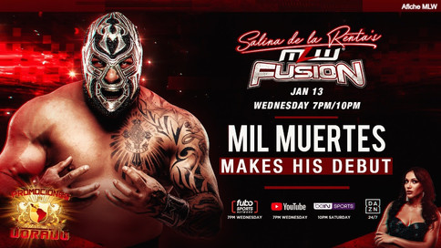 ÚLTIMA HORA: Mil Muertes a debutar en Major League Wrestling ESTE MIÉRCOLES