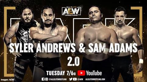 BANDERA BORICUA EN AEW: Syler Andrews y Samuel Adams a luchar en el programa DARK
