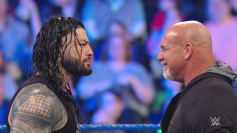 CARA A CARA: Roman Reigns frente a Goldberg en WWE SmackDown