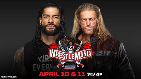 OFICIAL: Edge chocará ante Roman Reigns por el Campeonato Universal de WWE en WrestleMania 37
