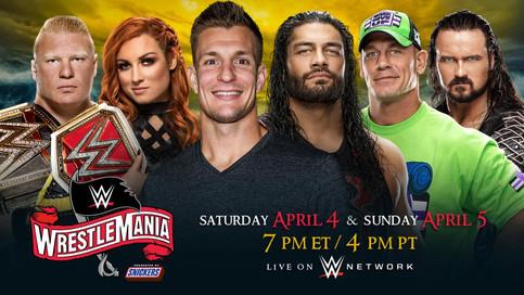 WWE: WrestleMania 36 a celebrarse dos días