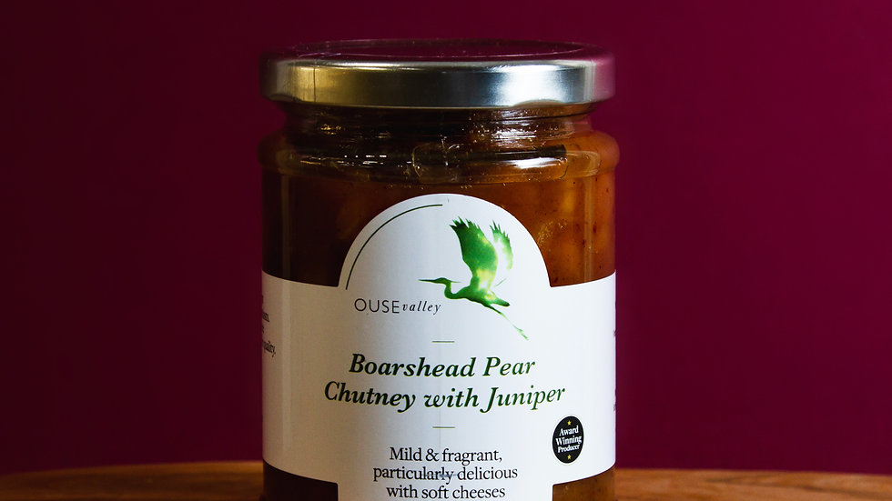 Ouse Valley Boarshead Pear Chutney with Juniper