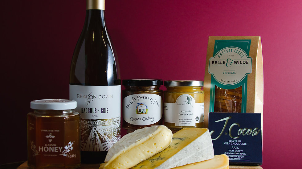 Celebrating Sussex Gift Box - With Local Wine