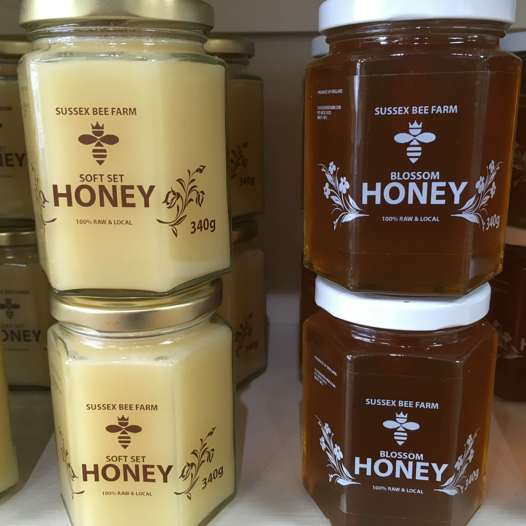 Raw honey from Sussex Bee Farm