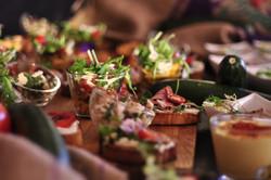 Buffet Fingerfood, Bruschetta, Salat