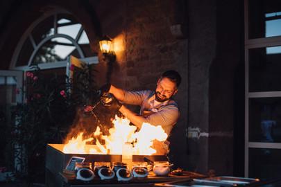 Ben Bantschow am Grill