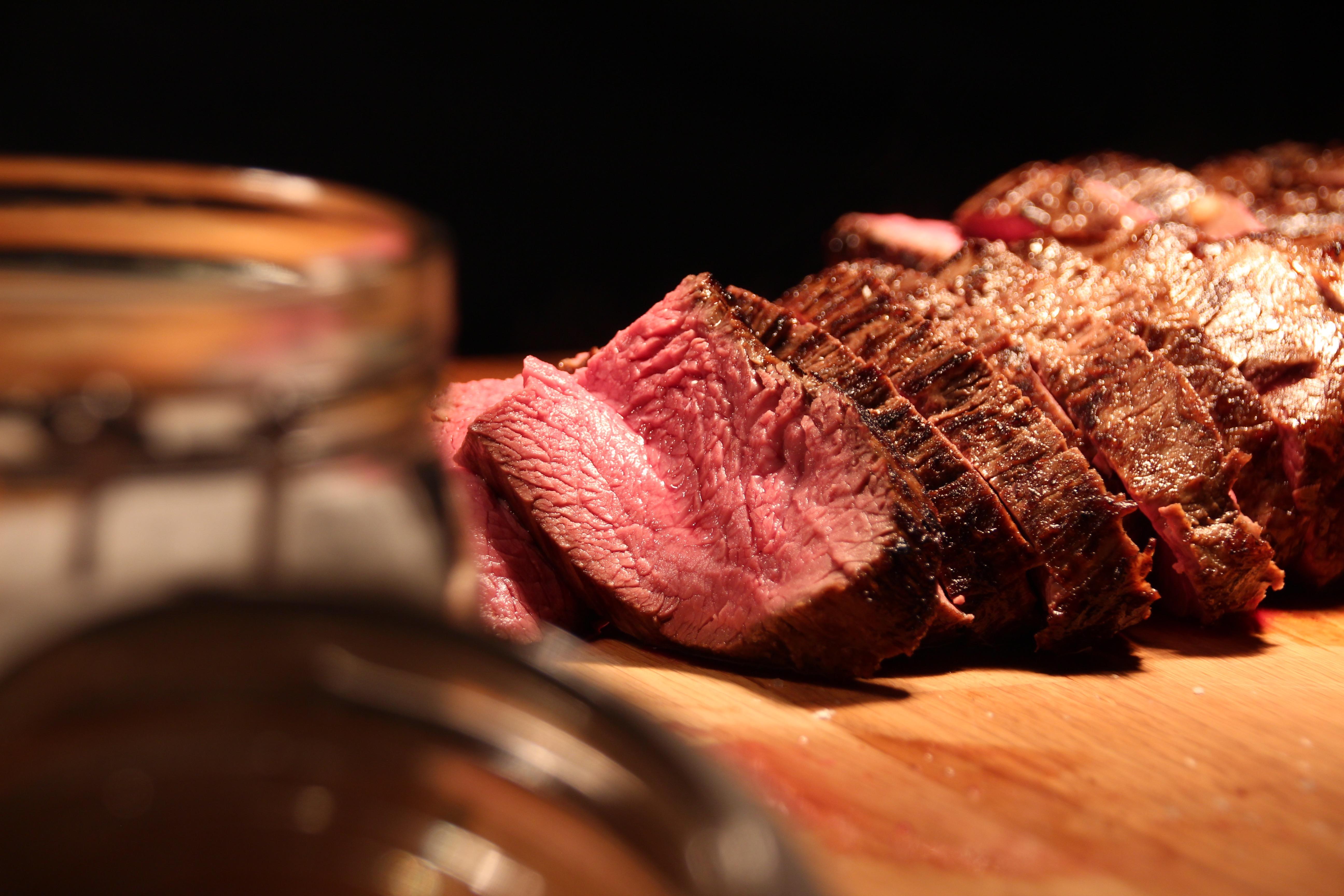rosa Fleisch Aufschnitt