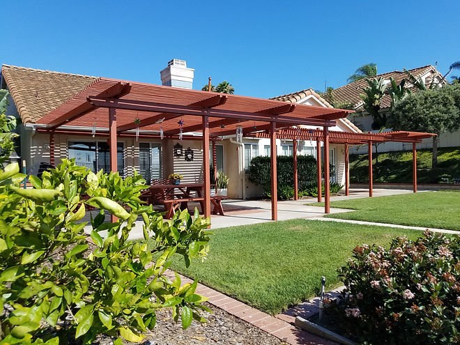 Coastal Carpenter  painted patio cover 2