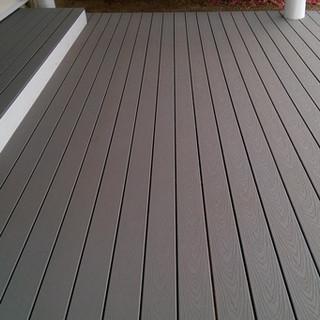 Grey composite deck with hidden fastener