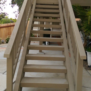 Pressure treated stairs