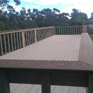 Large deck with new paint