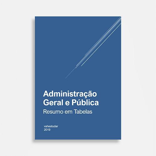 Administração Geral e Pública - Resumo em Tabelas