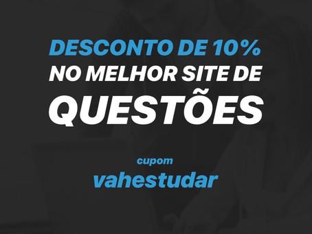 DESCONTO DE 10% NO MELHOR SITE DE QUESTÕES: TEC CONCURSOS