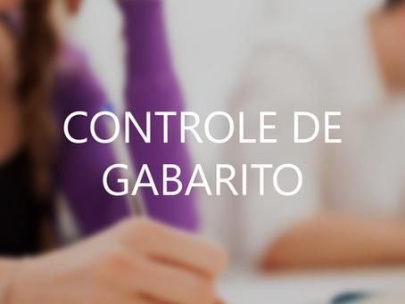CONTROLE DE GABARITO