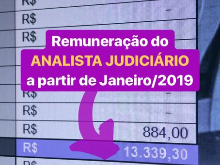 REMUNERAÇÃO DO JUDICIÁRIO EM 2019
