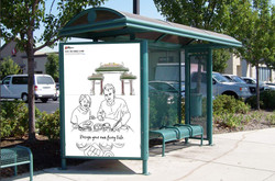 Bus Station Ad in US