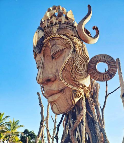 DANIEL POPPER / WOODEN DEITIES / A-FEST2018: BALI INDONESIA   BABYLON FESTIVAL + STRAND EPHEMERA ART FAIR, AUSTRALIA