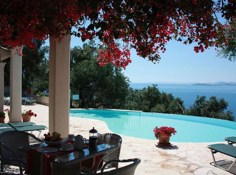 Corfu Villa Pool & Seaside view