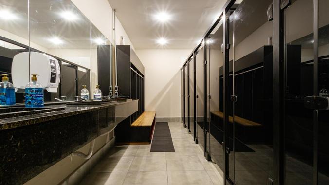 Banheiro com ar condicionado