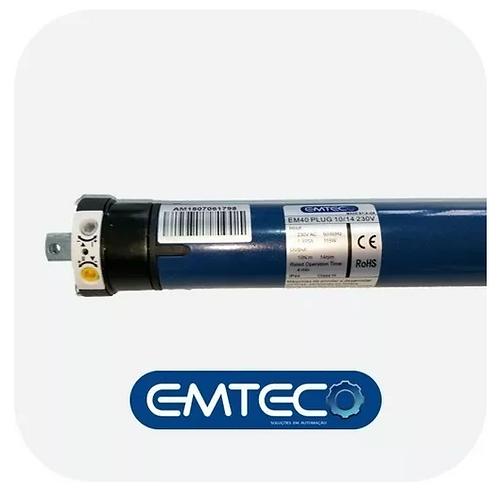 Motor Tubular 10 N.m Plug P/ Persianas 23kg Emteco