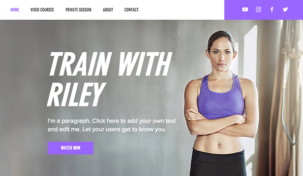 Sport en recreatie website templates – Online fitnessvideo's