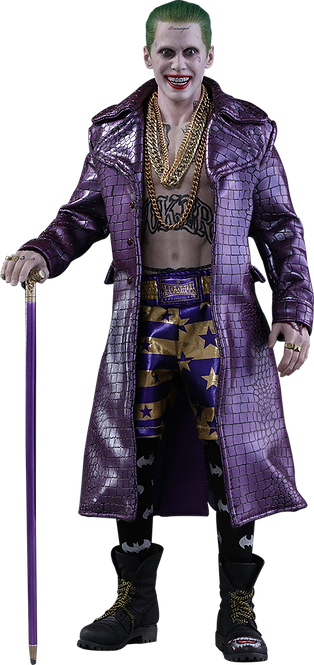 Hot Toys Joker Purple Coat Version Suicide Squad 1/6 MMS382 DELUXE Version