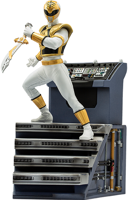 White Ranger BDS Art Scale 1/10 - Power Rangers - Iron Studios