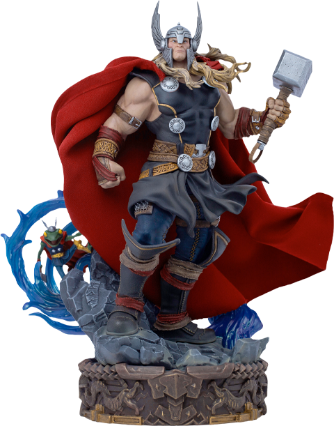 Thor Unleashed Deluxe 1:10 Scale Statue by Iron Studios