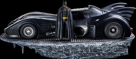 Batman & Batmobile Deluxe 1:10 Scale Statue by Iron Studios