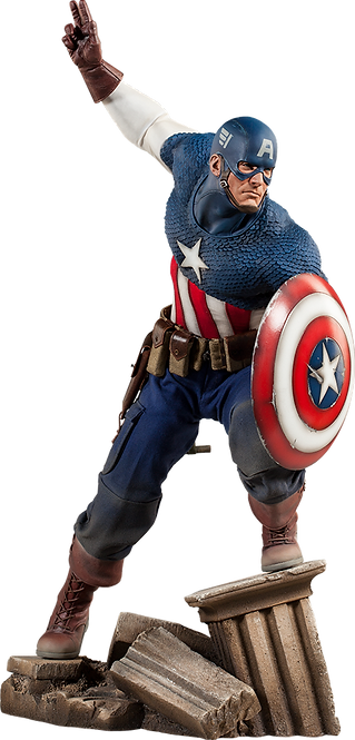 Captain America Allied Charge on Hydra - SIDESHOW