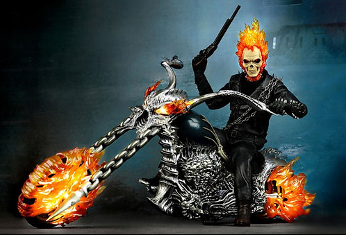 Ghost Rider With Hellcycle Hot Toys