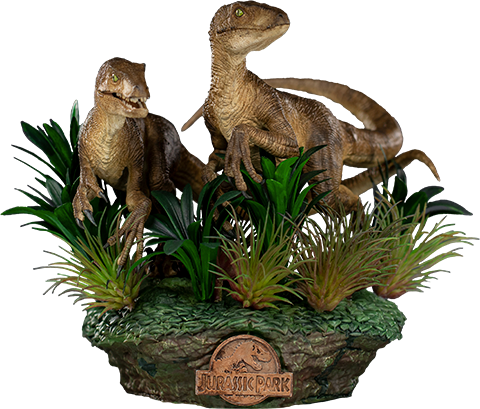 Just The Two Raptors Deluxe - IRON STUDIOS Jurassic Park