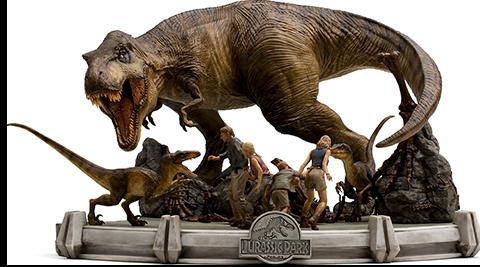 The Final Scene Jurassic Park - IRON STUDIOS Demi Art Scale 1:20