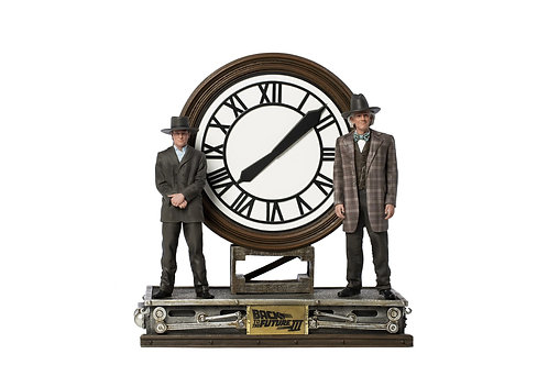 Marty and Doc at the Clock Deluxe Art Scale 1/10 – Back to the Future III