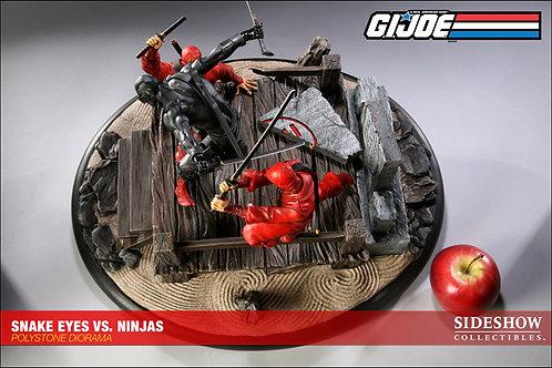 Snakes Eyes vs. Red Ninjas Diorama - SIDESHOW Exclusivo