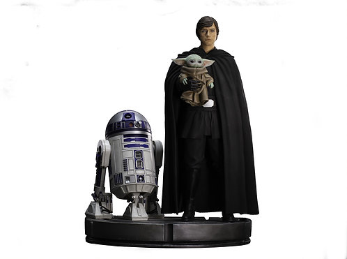 Luke Skywalker, R2-D2 and Grogu - Legacy Replica 1/4 - IRON STUDIOS