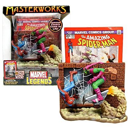 MARVEL Legends Masterworks Famous Covers SPIDERMAN vs GREEN GOBLIN ToyBiz 2006
