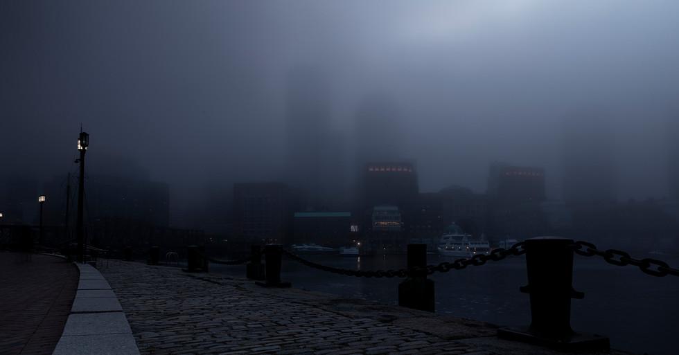 Foggy Boston Skyline