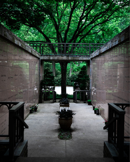 Passage at the Cemetery