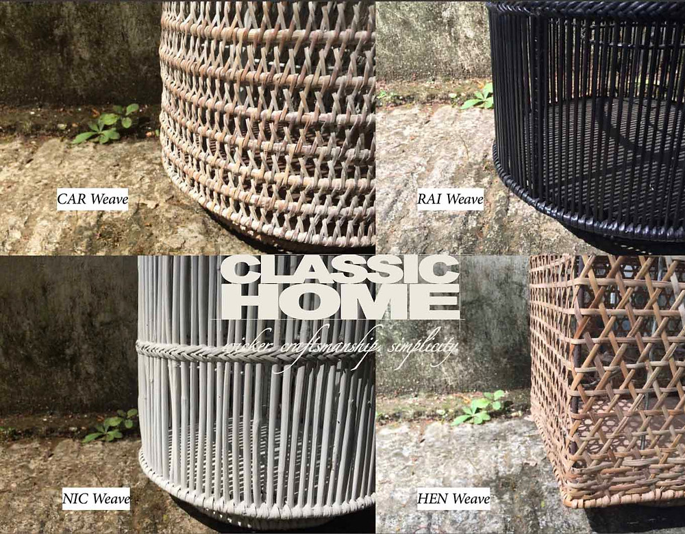 weavings in rattan and bamboo by classic home myanmar